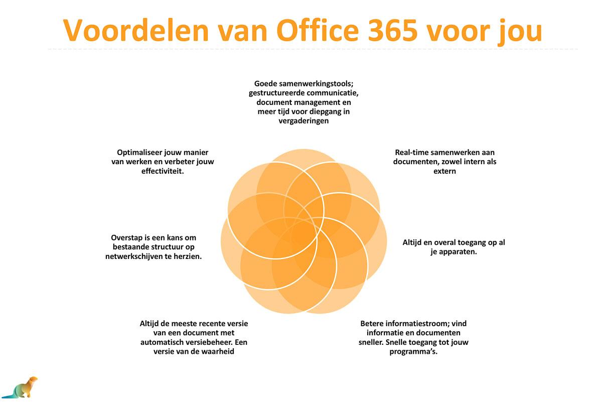 Overzicht voordelen office 365 via Orange Otters