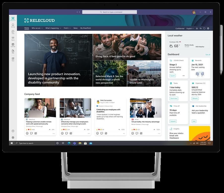 Teams desktop experience of Viva Connections