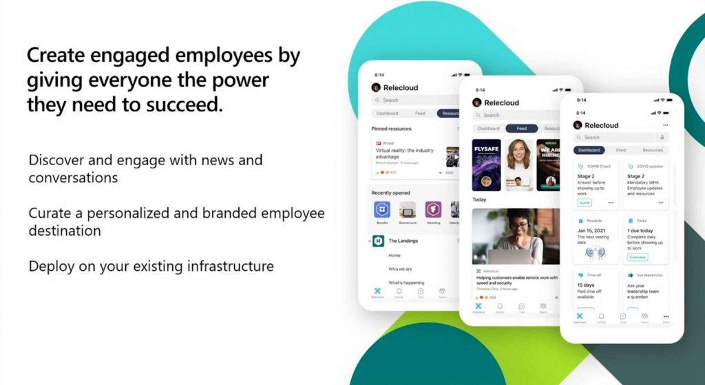De mobiele versie van Viva Connections